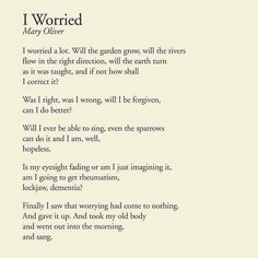 I Worried - Mary Oli