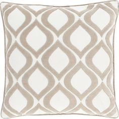 joss and main $43.95 Add a pop of pattern to your bed or sofa with this handmade pillow, featuring an ogee motif in light grey and ivory.  Product: P...
