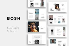 BOSH - Clean and Minimal Keynote Presentation TemplateClean, modern and simple Keynote Template. This clean and creative layout gives you many possibilities of creativity. You can edit everything very easy in your Keynote Software. With one click resiza… Simple Powerpoint Templates, Powerpoint Presentation Slides, Business Presentation, Keynote Template, Presentation Design, Powerpoint Design Templates, Power Points, Presentation Layout, Ppt Design