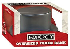 USAopoly Monopoly: Oversized Hat Token Bank