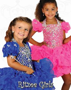 New Arrival 2014 Halter Short Sleeve Little Rosie Pageant Dresses Beads Crystal Ritzee Girls Organza Cupcake Hollow Pageant Dress Little Girl Pageant Dresses, Girls Dresses, Formal Dresses, Pageant Shoes, Toddlers And Tiaras, Girls Black Dress, Girl Cupcakes, Easter Dress, Princess Birthday