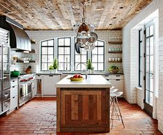 We can't decide what we like best about this incredible kitchen! More ideas here: http://www.bhg.com/kitchen/backsplash/subway-tile-backsplash/?socsrc=bhgpin072714properproportions&page=9