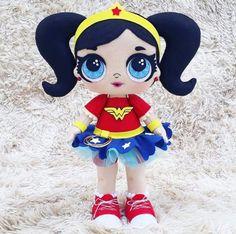 From monique rangel Doll Crafts, Diy Doll, Wander Woman, Snow White Disney, Cute Cat Gif, Felt Patterns, Lalaloopsy, Lol Dolls, Baby Store