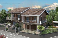 Progettazione bifamiliare Mansions, House Styles, Home Decor, Decoration Home, Manor Houses, Room Decor, Villas, Mansion, Home Interior Design