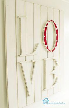 Remodelando la Casa: PB Inspired Love Wall Plaque for Valentines