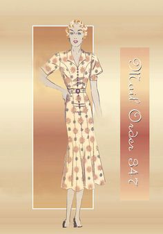 Mail Order 347 ---1930s Career Day Dress