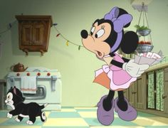 Another clip from the Disney film, Mickey's Once Upon A Christmas. In this clip we can see Figaro from Pinocchio. In this film though, they aren't trying to be discrete about it. Minnie calls him by name throughout.