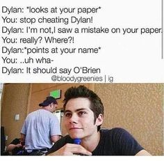 Read Dylan: highschool from the story Thomas Brodie Sangster and Dylan O'Brien Imagines by okwowwhy (❤️-G) with 2,450 r...