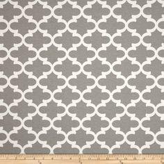 Premier Prints Indoor/Outdoor Fulton Grey Fabric