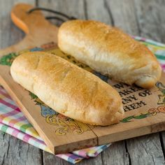 French Bread Shorties - French bread in the mini size for sub style sandwiches and so on.