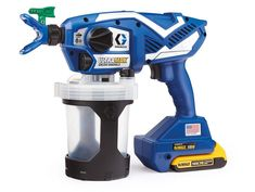 Graco TC Pro Plus Cordless Handheld Airless Paint Sprayer at Lowe's. Pros have proven the TC Pro Plus Cordless Handheld Airless Sprayer is the fastest way to finish small jobs. Powered by DEWALT, this handheld electric Best Paint Sprayer, Concrete Coatings, Painted Bags, Paint Types, Paint Primer, Electronic Recycling, Recycling Programs, Behr, Cool Paintings