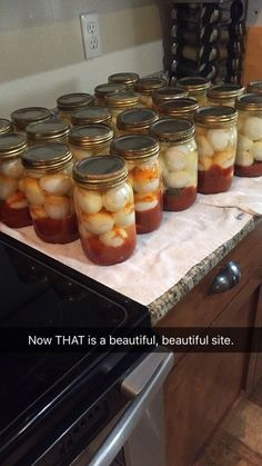 This is the most AMAZING pickled egg recipe ever! I promise you, they are soooo delicious. They aren't overly spicy but have . Spicy Pickled Eggs, Pickled Cabbage, Cajun Pickled Quail Eggs Recipe, Pickling Eggs Recipe, Pickled Kielbasa Recipe, Pickled Veggies Recipe, Best Pickled Eggs, Pickled Garlic, Yummy Food