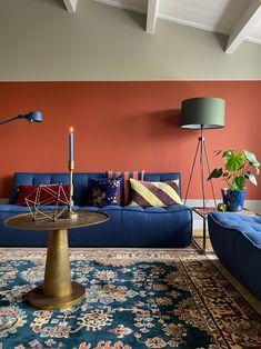 Boho Living Room, Home And Living, Living Room Decor, Room Color Schemes, Room Colors, Tadelakt, Interior Decorating, Interior Design, Retro Home