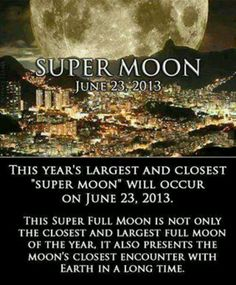Supermoon tonight, moon set 22nd and moon rise in the morning of the 23rd.