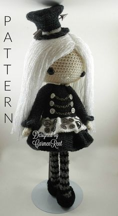 ATTENTION - Keep in mind that this is a crochet pattern in a PDF. This is NOT the finished product.  Lisette is approximately 17 inches tall. Also, please keep in mind that this doll cannot stand up on its own.  This is a non-refundable purchase. Once the payment has been confirmed you will be allowed to download the pattern in a PDF. The language in the pattern is in English only. The pattern includes all of the yarn colors I used for the doll, however, you are free to experiment and use…