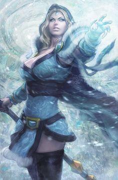 Crystal maiden Dota 2 by Artgerm #ice #mage #dota