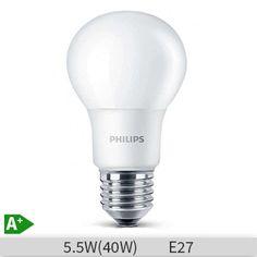 BEC Led Philips forma clasica, 5.5W, E27, 6500k, lumina rece, 230V, A60, FR ND… www.etbm.ro/becuri-led