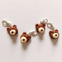Crochet stitch markers teddy bear stitch by AbsoKnittingLutely, £8.00