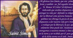 """SAN SIMÓN   Canaán de Galilea, Israel - , Israel   Apóstol, Mártir   Simón significa: """"Dios ha oído mi súplica"""".  Atributos: Un serruch..."""