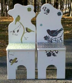 Refinished chairs POSTED ON APRIL 4, 2011 BY RUTH LOVETTSMITH IN ALL SITE ARTICLES (green peony)