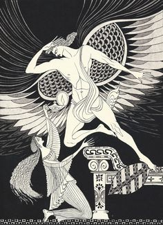 The God being burned in this sort, and perceiving that promise and faith was broken, he fled away. An illustration by Errol Le Cain for Cupid and Psyche. Eros And Psyche, Greek Art, Children's Book Illustration, Gods And Goddesses, Drawing Studies, Ink Art, Archetypes, Retro, Illustrators