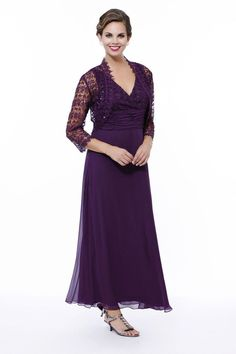 Long Evening Dress Bolero Mother of the Bride Formal Plus Size