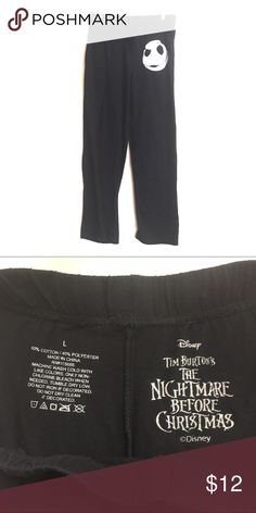 Nightmare before Christmas Lg lounge pants Disney Excellent condition Super comfy Matching shirt listed separately Disney Intimates & Sleepwear Pajamas