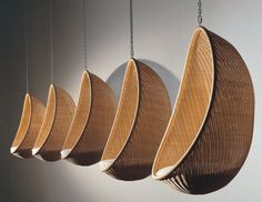 """A design classic for the outdoors - the hanging basket chair """"Egg"""""""