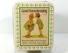 Vintage Metal Storage Tin - Good Housekeeping, June 1926