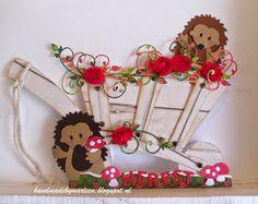 Handmade by Marleen: Heerlijk Herfst! - Kruiwagen met egeltjes