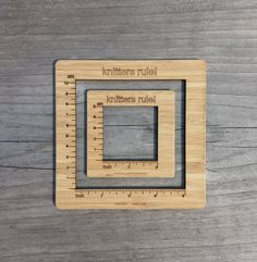 Gauge Swatch Measurement Ruler Square Tool for by katrinkles