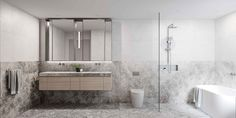 Victoria Apartments, Botanical Bathroom, Timber Panelling, Herringbone Tile, Dynamic Design, Soothing Colors, Cool Apartments, Elegant Homes, Land For Sale