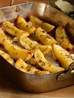 Roasted Lemon Potatoes go perfect with any main dish! Try it with steak, chicken, or fish.