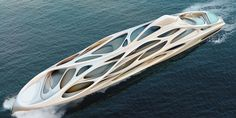 Zaha Hadid has unveiled plans for a series of superyachts. The 420-foot Unique Circle is the largest. Read on to see more images of the dazzling fleet.