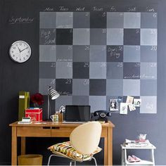 i'm all about some blackboard paint right now...this would be fun!