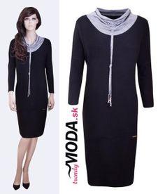 Čierne ležérne šaty pre moletky - trendymoda.sk Dresses For Work, Fashion, Moda, Fashion Styles, Fashion Illustrations