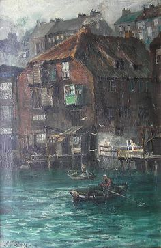 Buy John Falconer Slater - Warehouses at North Shields and other Victorian paintings and watercolours at James Alder Fine Art Time In England, North Shields, Victorian Paintings, North East England, Town And Country, North Yorkshire, Historical Pictures, Newcastle, East Coast
