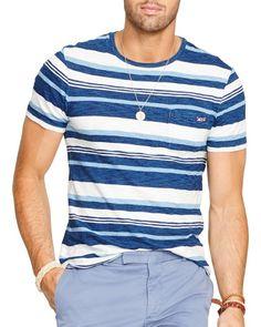 Polo Ralph Lauren Striped Indigo Jersey Tee