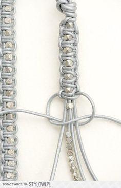ideeen om zelf armbandjes te maken - armband kraal en macrame