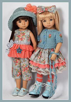 """Mix & Match Outfit for Little Darlings Dianna Effner 13"""" Maggie & Kate Create"""