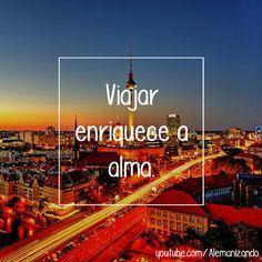 """""""Viajar enriquece a alma."""" - Se ainda não é inscrito, se inscreva no nosso canal: https://www.youtube.com/user/Alemanizando - #viagem #alemanizando #viajar"""
