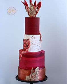 Gallery – Cakes by Angela Morrison Wedding Cake Red, Wedding Sweets, Elegant Wedding Cakes, Beautiful Wedding Cakes, Gorgeous Cakes, Pretty Cakes, Amazing Cakes, Ruby Wedding, Cupcake Cakes