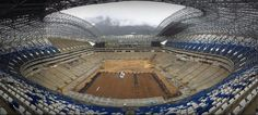 [#Avances]   La parte de arriba del nuevo #EstadioRayado casi está completamente cubierta con butacas de color azul y blanco