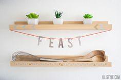 Feast Kitchen Banner DIY - illistyle.com