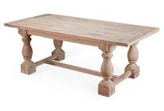 "Gigi 82"" Farmhouse Dining Table, Natural"