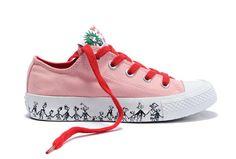 555cbd4c1f0818 Converse All Star White Cartoon Christmas Low Top Canvas Shoes Converse All  Star White