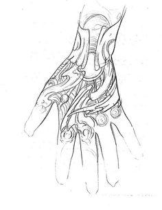 hand_tattoo_sketch__bio_mechanic...