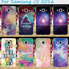 Star Sky Painted Pattern Phone Cover For Samsung Galaxy J5 2016 J510F SM-J5108 Cases Anti-scratch Plastic and Silicon Phone Bags