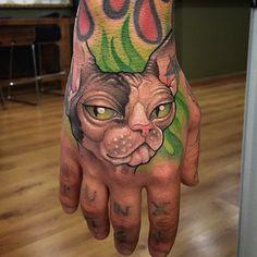 koan_bcn via Instagram - Cat Tattoos
