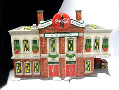 Snow Village Dept 56 Coca Cola Bottling Plant 1994 | eBay